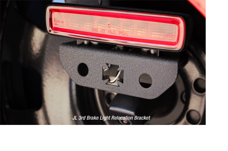 JL 3rd Brake Light Relocation Bracket