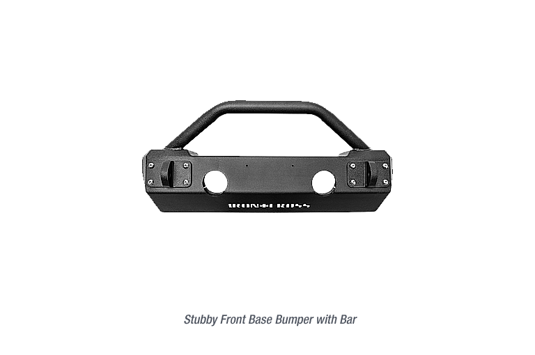 Stubby Front Base Jeep Bumper with Bar
